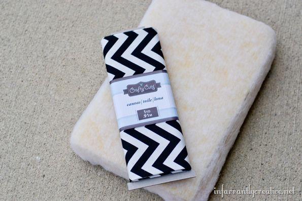 black and white chevron fabric