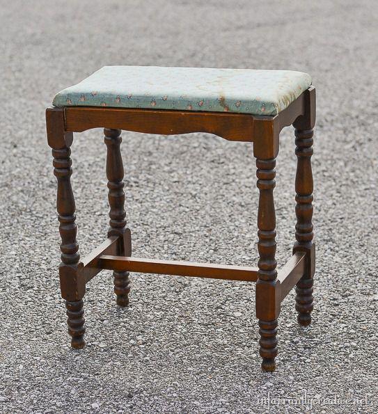 chevron stool makeover