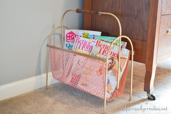 coral-and-gold-magazine-rack