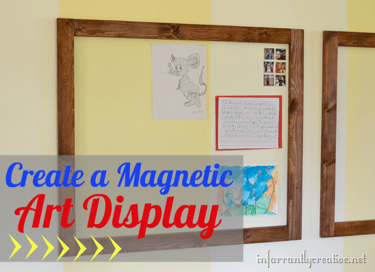 magnetic wall for kid s art display infarrantly creative