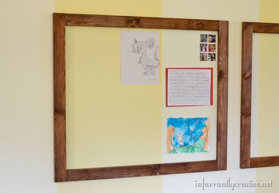 magnetic-wall-for-kid's-art-display