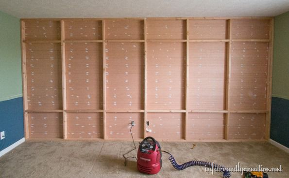 planked and shelved wall