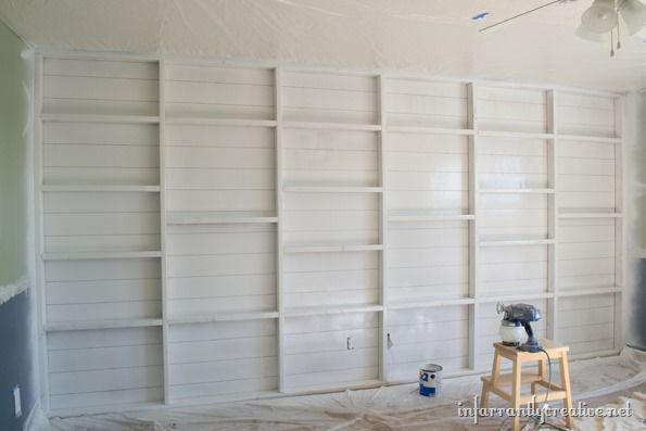 primed feature wall