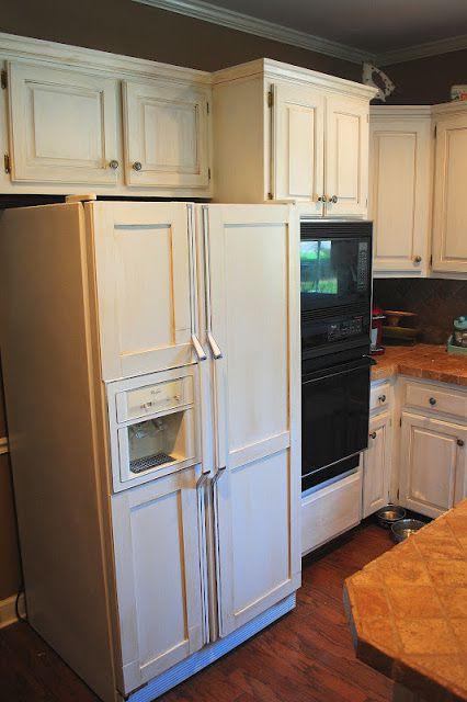 Amazing Grays diy paneled fridge