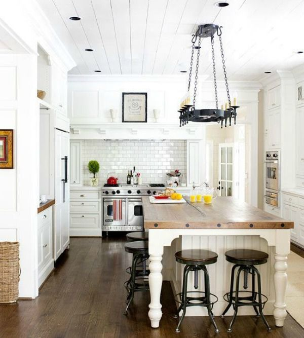 better homes and gardens white dream kitchen inspiration - White Farmhouse Kitchen