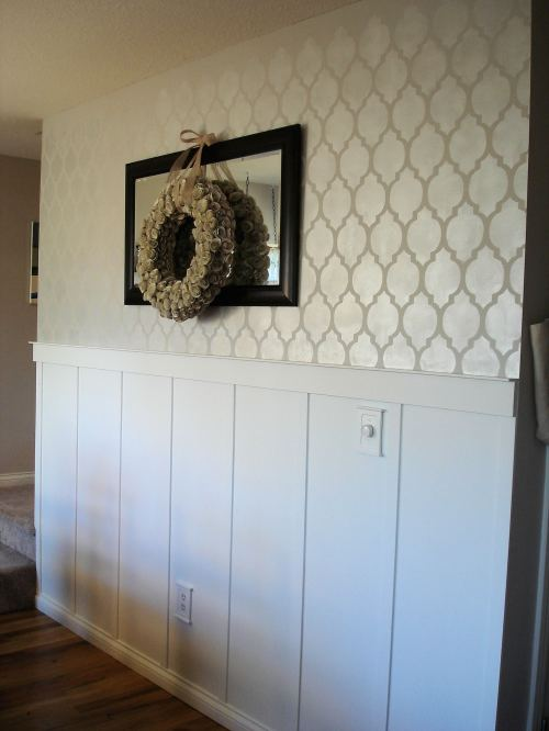 Lovely Crafty Home stenciled wall