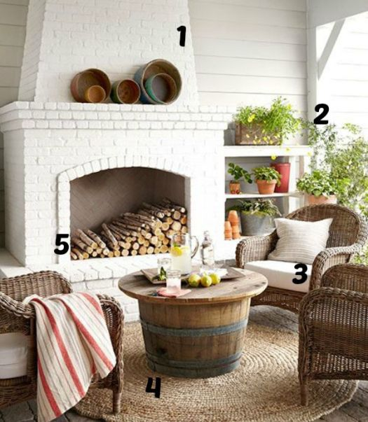 Outdoor Living Room numbered inspiration