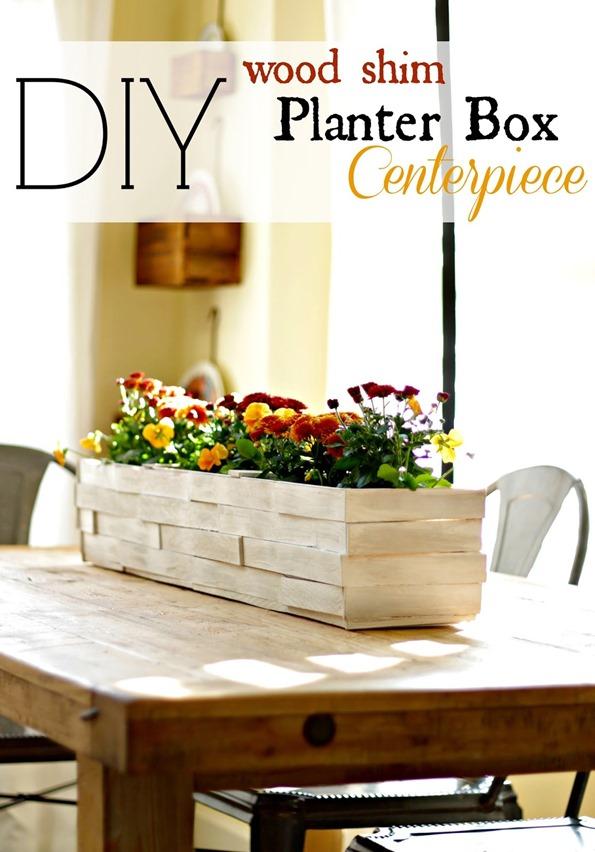 Tabletop Wood Shim Planter Box