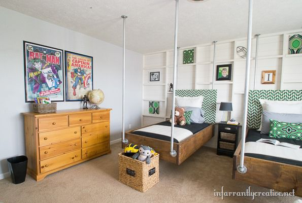 green and gray room