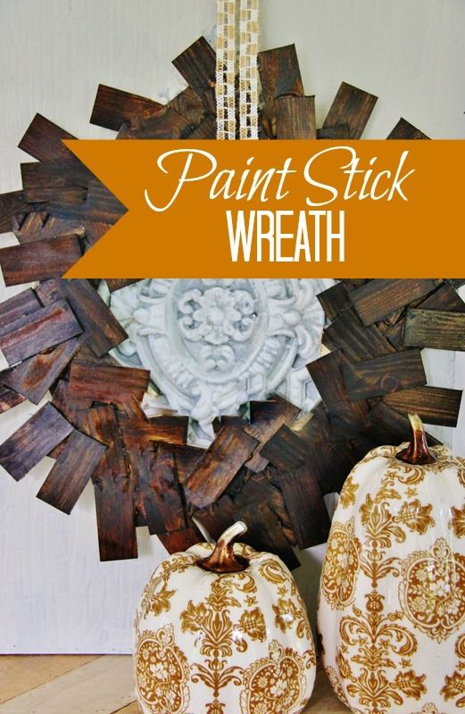 Paint Stick Wreath