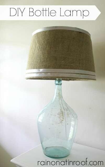 Rain on a Tin Roof bottle lamp