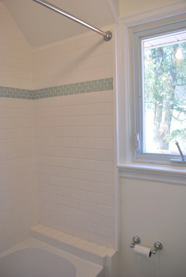 The Sweetest Digs bath surround subway tile diy
