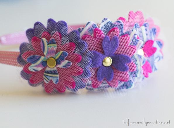 how to make a felt flower headband