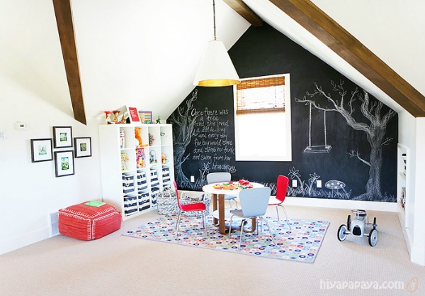 5 Ways To Get This Look Playroom With A Chalkboard Wall Infarrantly Creative