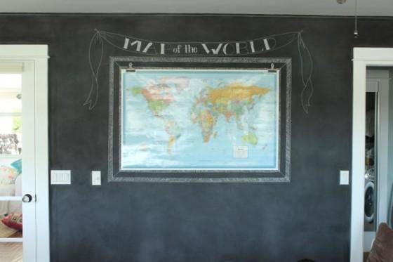 The Pleated Poppy chalkboard wall
