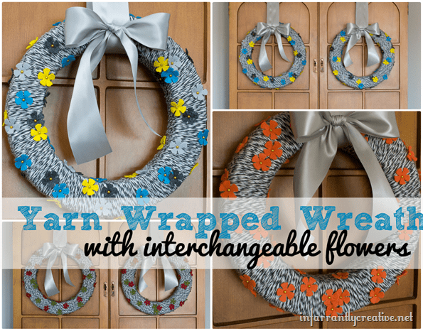 Yarn-wrapped-wreath-with-interchangeable-flowers