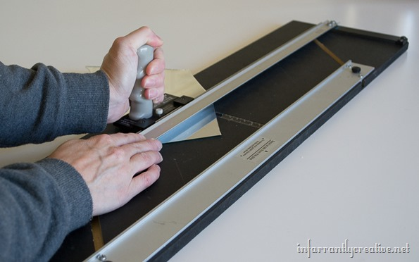 cutting mirror with glass cutter