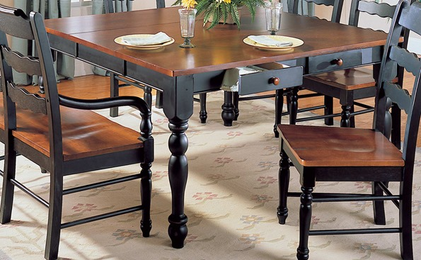 kitchen table with drawers
