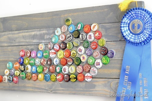 Beneath My Heart bottle cap state art