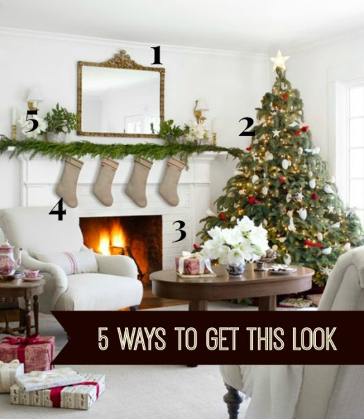 5 Ways to Get This Look:  Festive Farmhouse Parlor