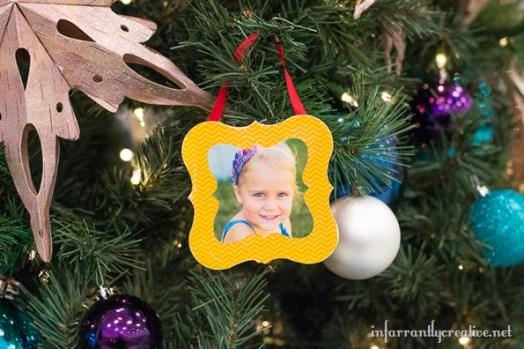 Mod Podged Shaped Frame Ornaments