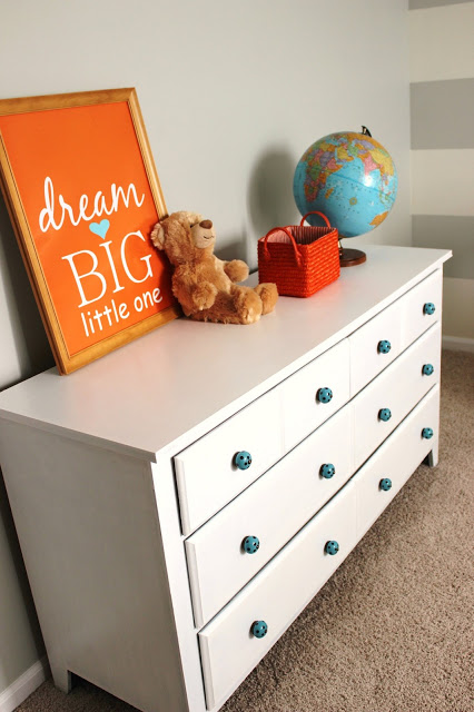 Delightfully Noted painting laminate dresser