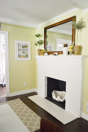 Young House Love painted fireplace