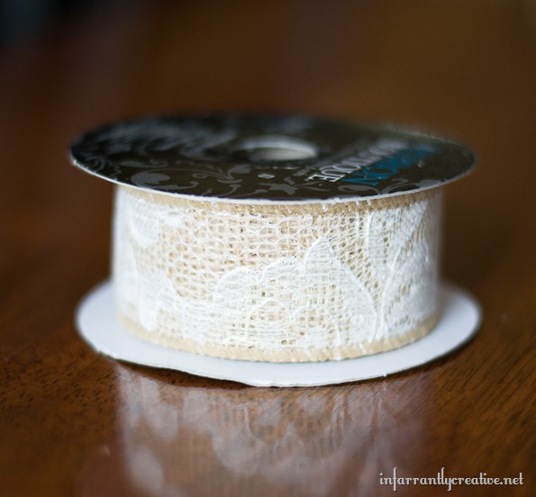 burlap lace ribbon