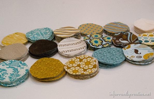 fabric circle wreaths