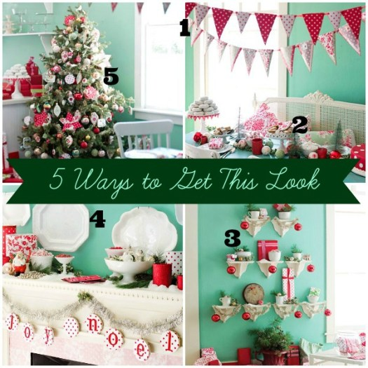 5 Ways to Get This Look:  Aqua Poppy Christmas Decor