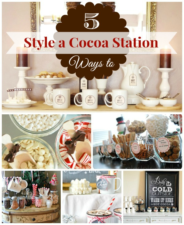 Hot Chocolate Bar Collage