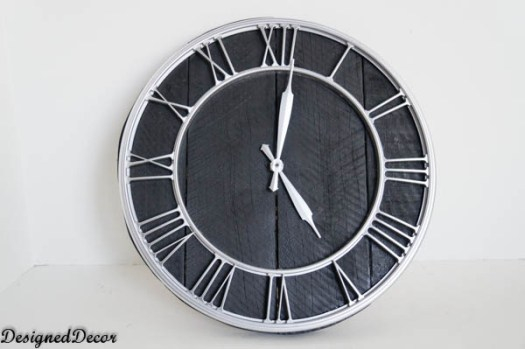 Designed Decor pallet clock