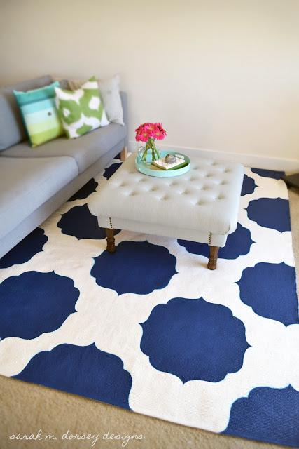 Sarah M Dorsey Designs painted rug