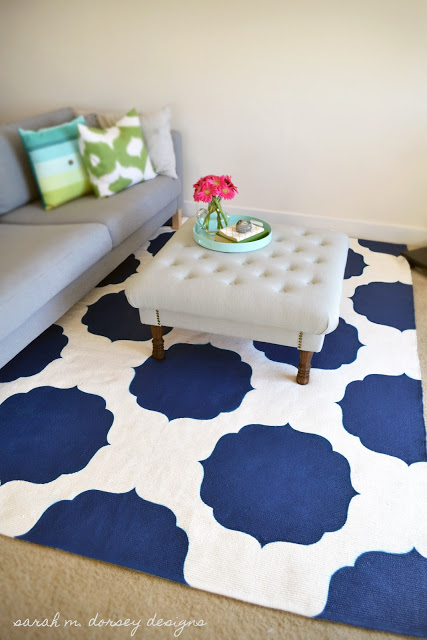 Sarah M Dorsey Designs painted rug