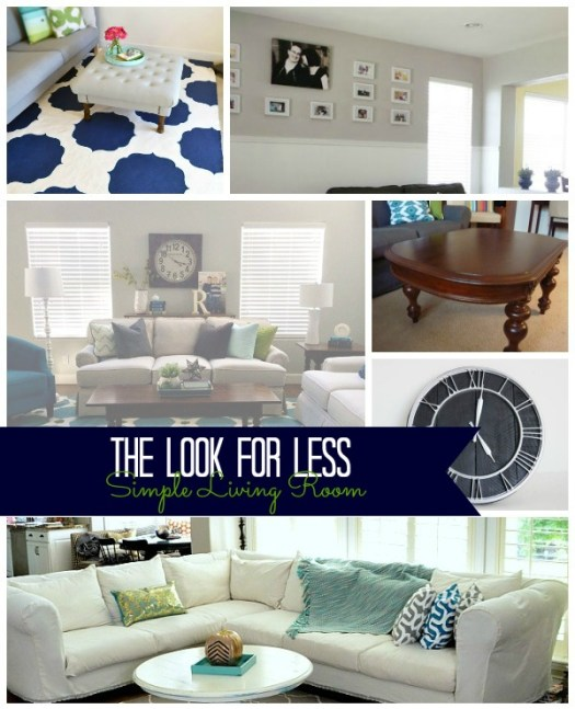 Simple Living Room Collage with text