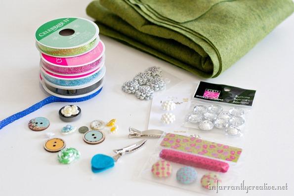 supplies to make hair clips