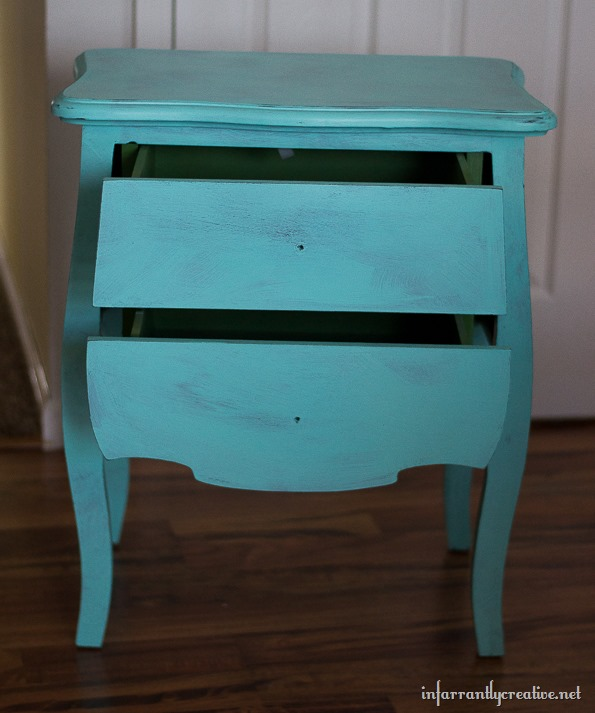 turqoise chalk paint