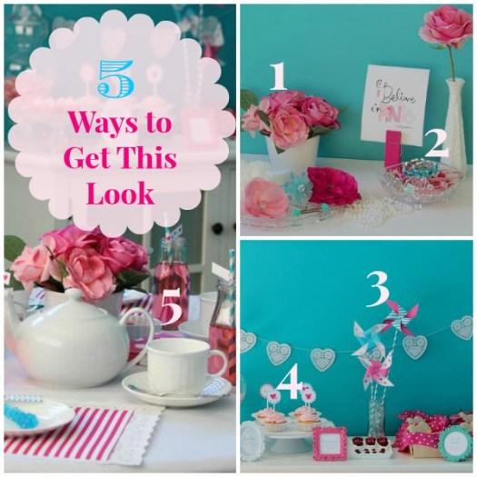 5 Ways to Get This Look Valentine Tea collage