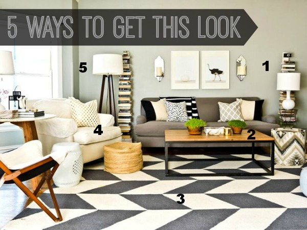 Modern Living Room Look 5 ways to get this look: modern living room - infarrantly creative