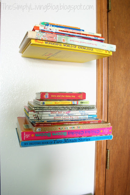 The Simply Living Blog diy invisible floating shelves
