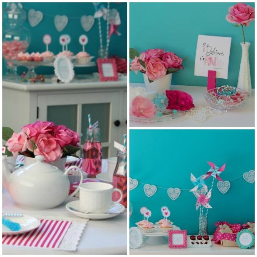 Valentine Tea Collage