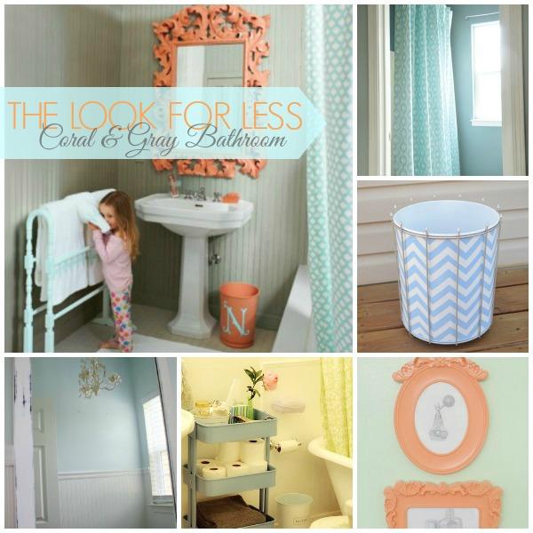 Cool coral gray bathroom ideas