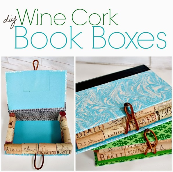 diy wine cork book boxes