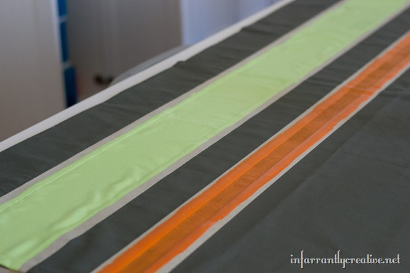 painting stripes on curtains
