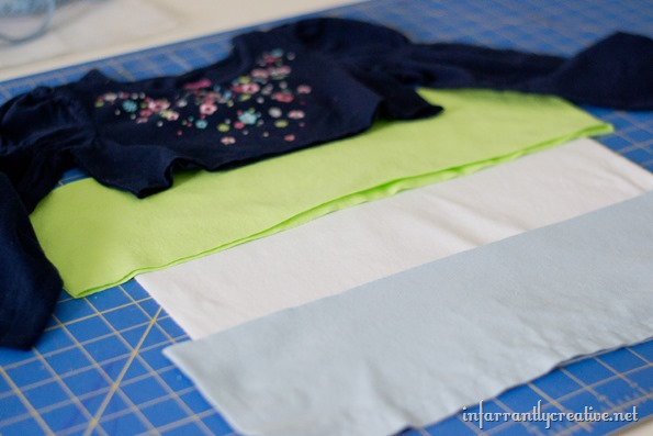 upcyling-tshirts-to-make-a-dress