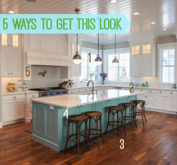 5 Ways To Get This Look: Blue Island Kitchen