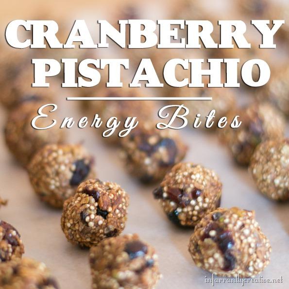 cranberry pistachio bites