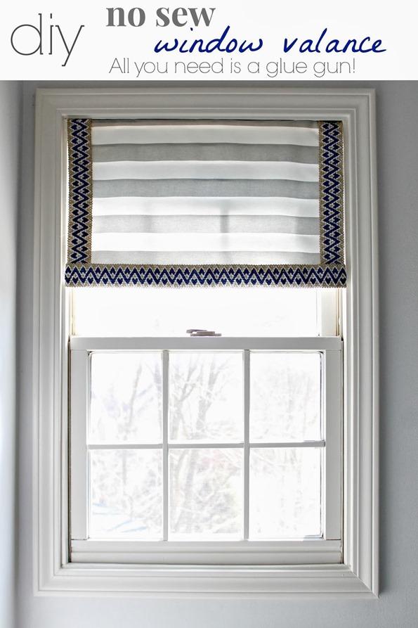 no sew window treatments roll up diynosewwindowvalance diy nosew window valance infarrantly creative