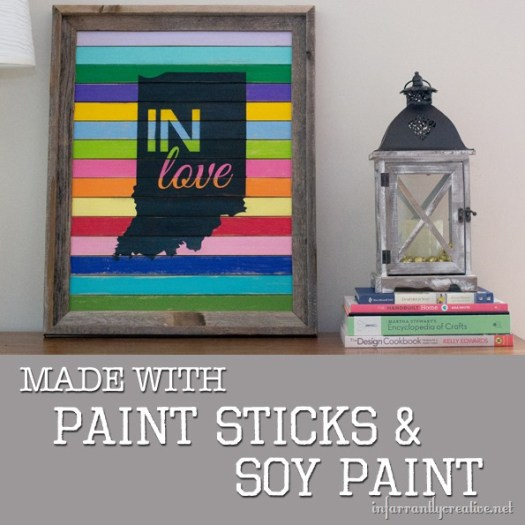 Indiana Love Sign {Paint Stick Project}