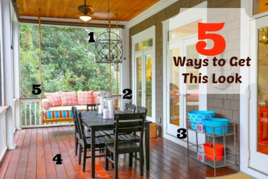 5 Ways to Get This Look:  Back Porch Living